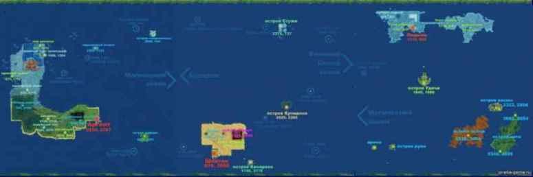 Пиратия карта игрового мира