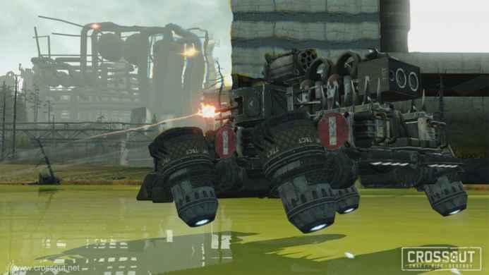 Скриншоты и обои CROSSOUT летающий танк