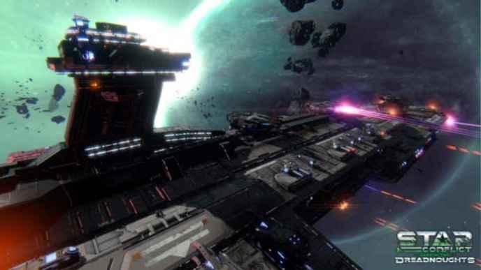 Скриншоты и обои Star Conflict эсминец атакует