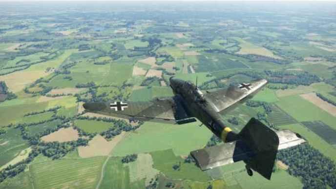 Скриншоты и обои War Thunder немецкий самолет в воздухе