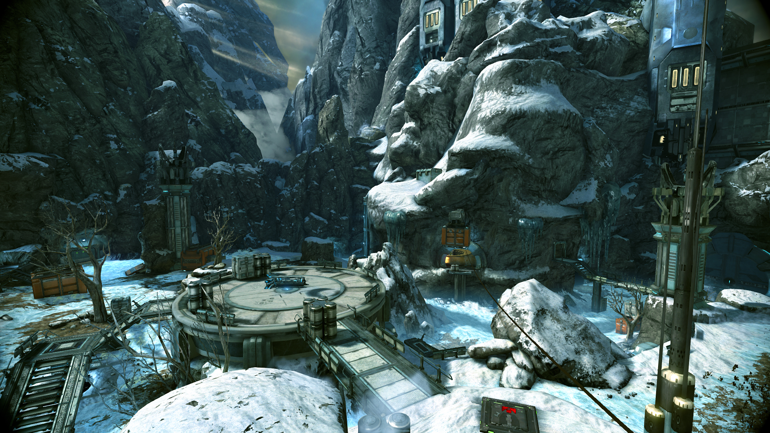 Скриншоты и обои WarFrame станция в горах