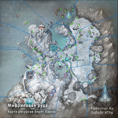 Карта ресурсов Берег Парны - Мифриловая руда