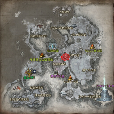 Координаты области отлова Дайнока