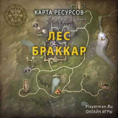 Карта ресурсов Лес Браккар