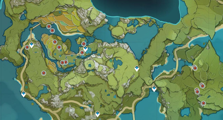 Genshin Impact Заоблачный перчик в районе Деревни Цинцэ